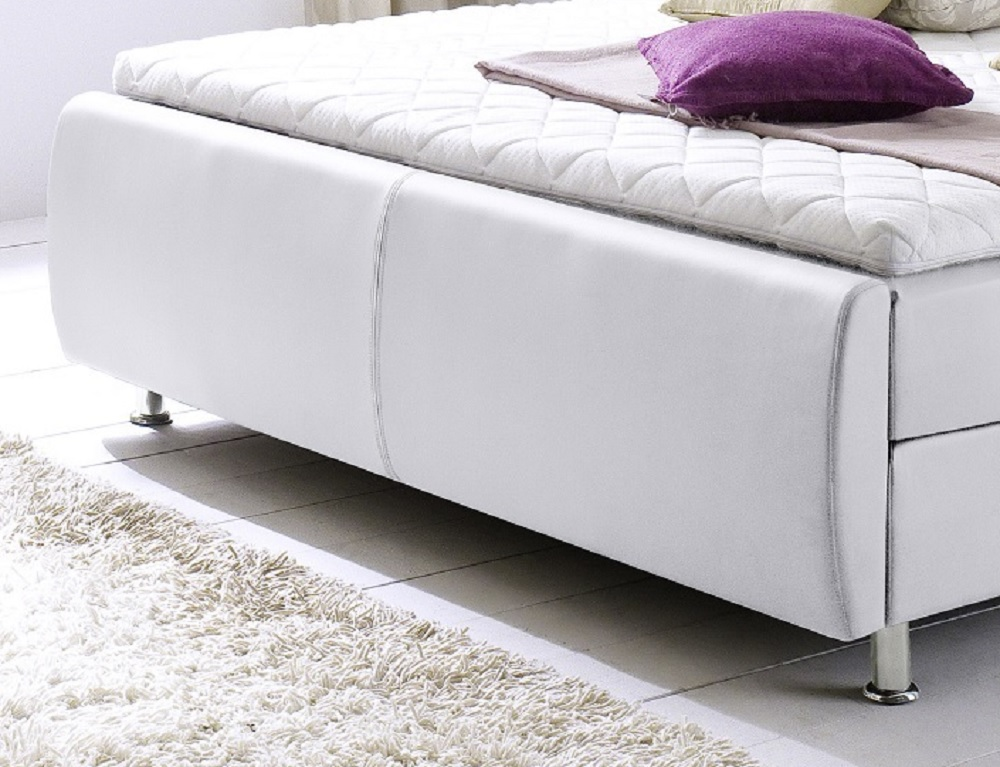 boxspringbett amondo wei 140cm x 200cm. Black Bedroom Furniture Sets. Home Design Ideas