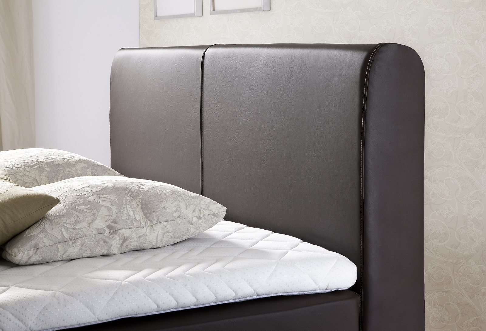 boxspringbett amondo braun 160cm x 200cm. Black Bedroom Furniture Sets. Home Design Ideas