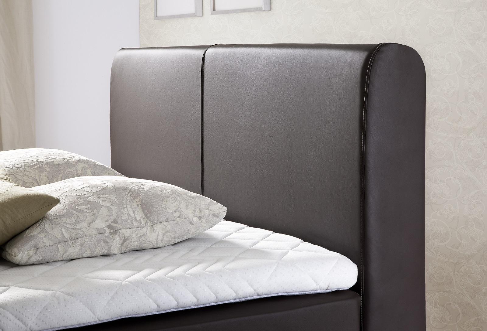 boxspringbett amondo braun 180cm x 200cm. Black Bedroom Furniture Sets. Home Design Ideas