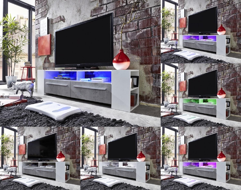 Tv lowboard henry weiß glänzend 160 cm   guenstigeinrichten.de