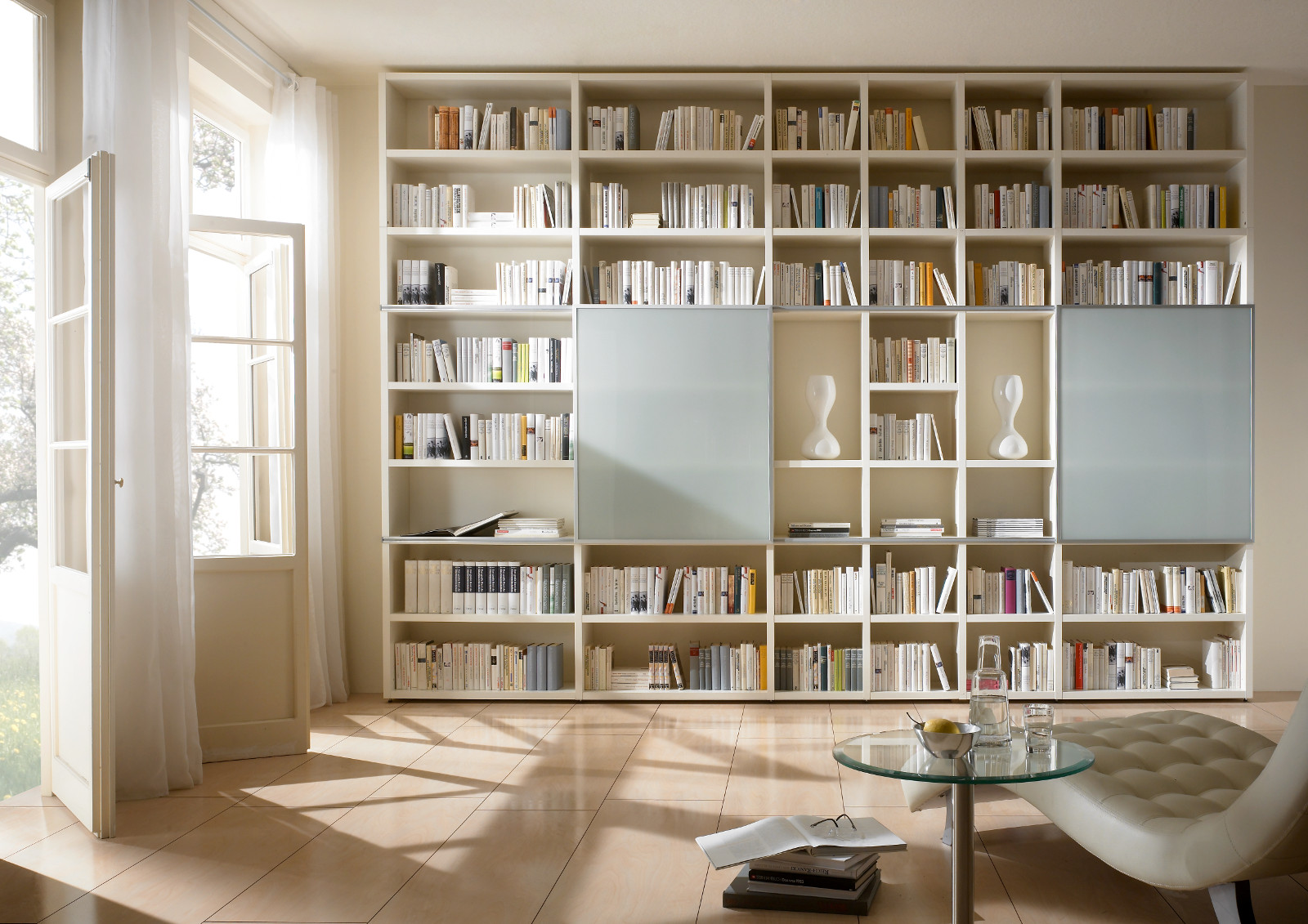 b cherwand regal raumteiler lack wei hochglanz. Black Bedroom Furniture Sets. Home Design Ideas