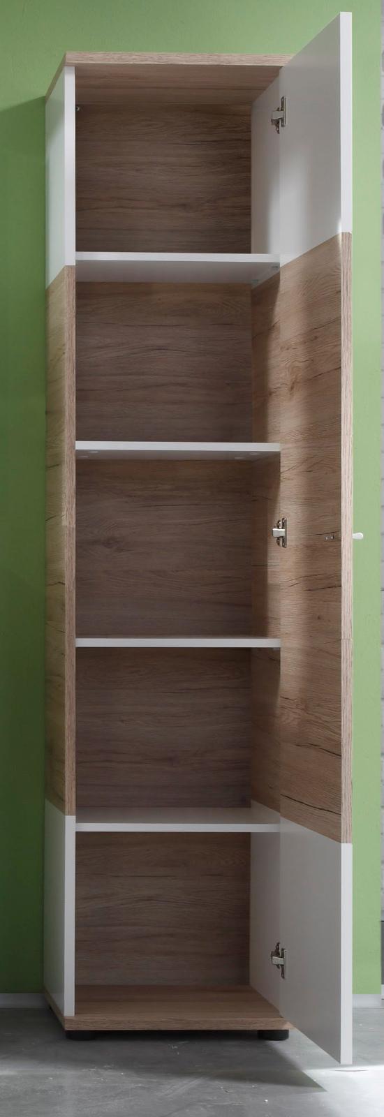 badm bel campus eiche wei g nstig online kaufen. Black Bedroom Furniture Sets. Home Design Ideas