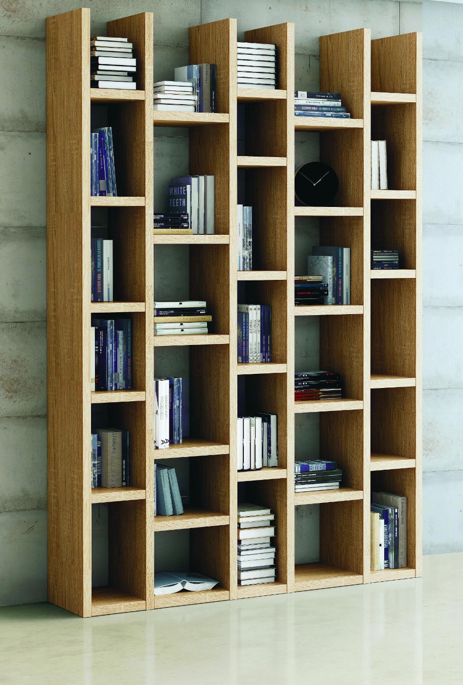 wohnwand b cherwand bibliothek eiche natur. Black Bedroom Furniture Sets. Home Design Ideas