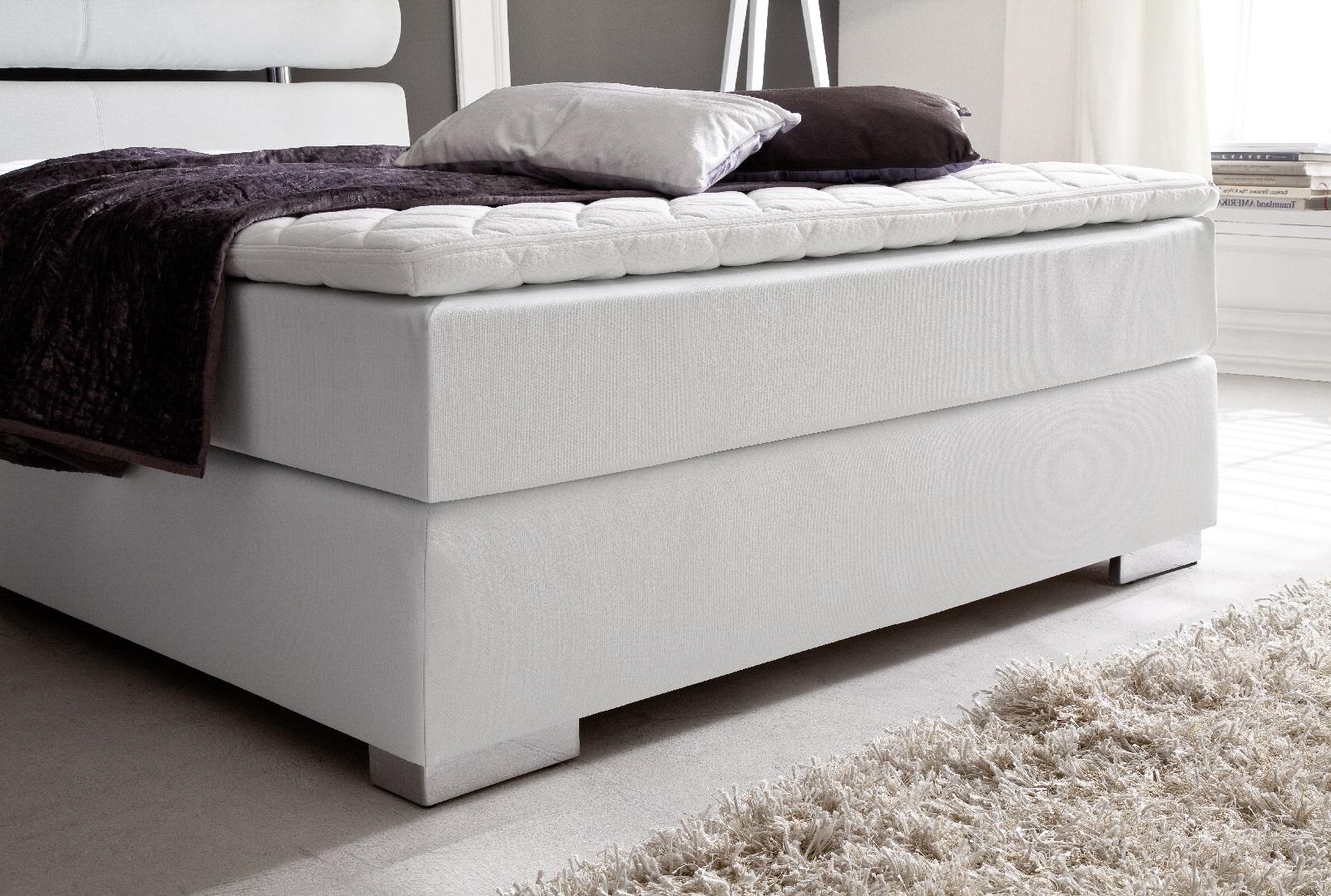boxspringbett onella wei 140cm x 200cm. Black Bedroom Furniture Sets. Home Design Ideas