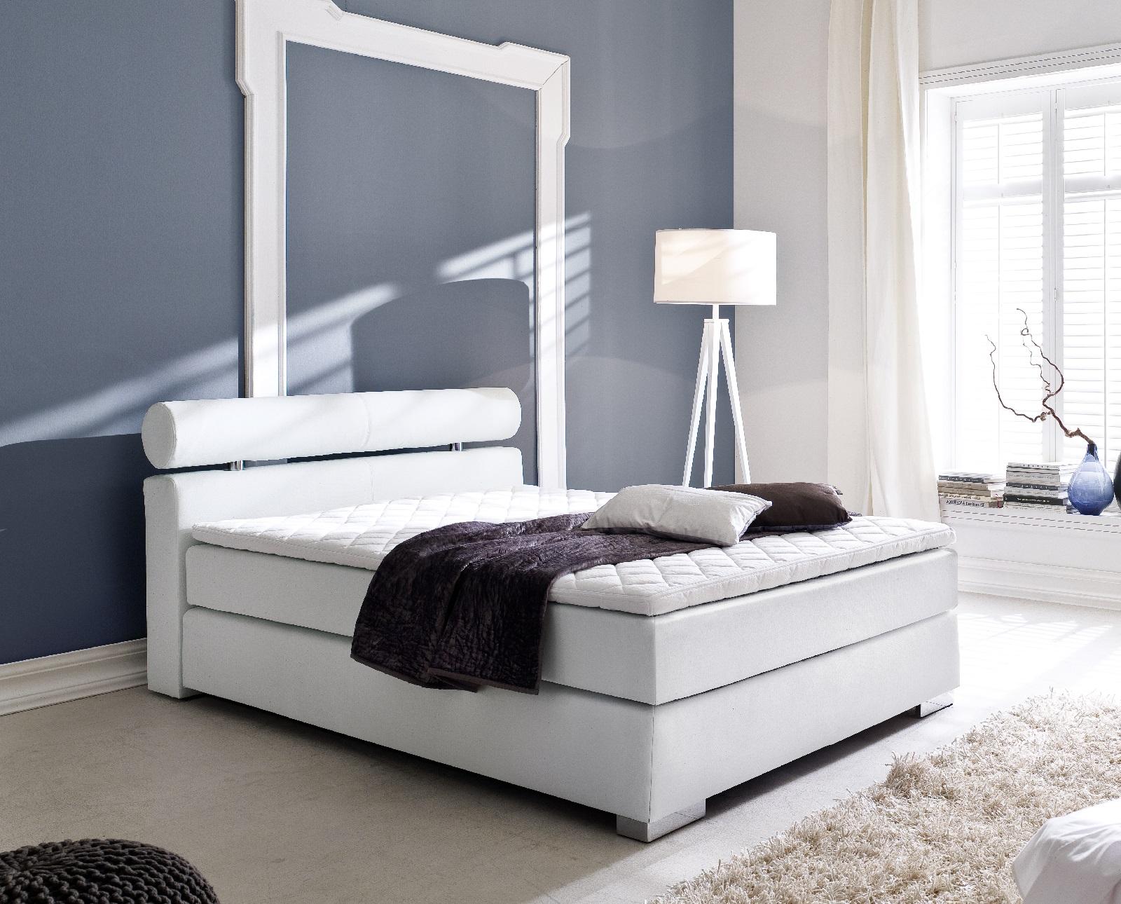 boxspringbett onella wei 120cm x 200cm. Black Bedroom Furniture Sets. Home Design Ideas