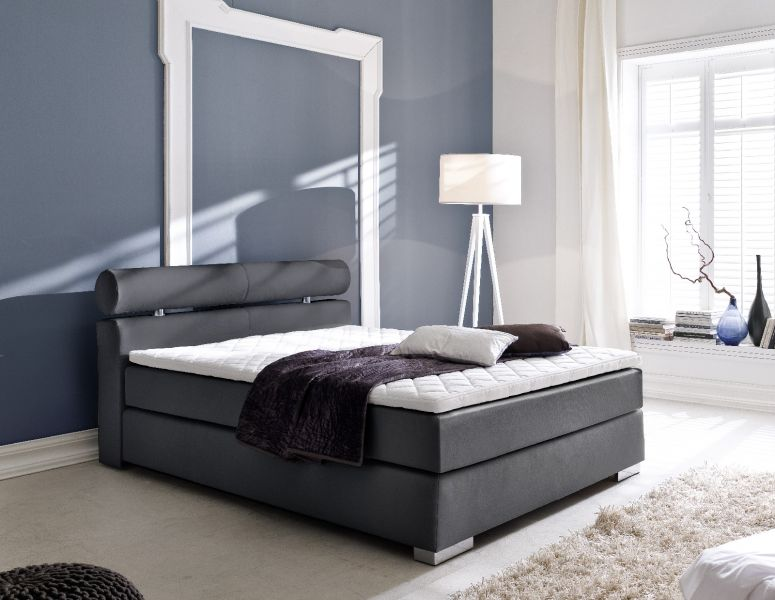 boxspringbett onella schwarz 120cm x 200cm. Black Bedroom Furniture Sets. Home Design Ideas
