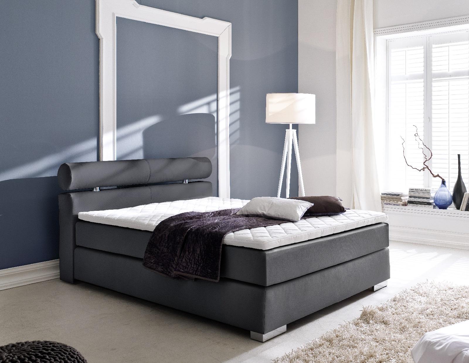 boxspringbett onella schwarz 120cm x 200cm. Black Bedroom Furniture Sets. Home Design Ideas