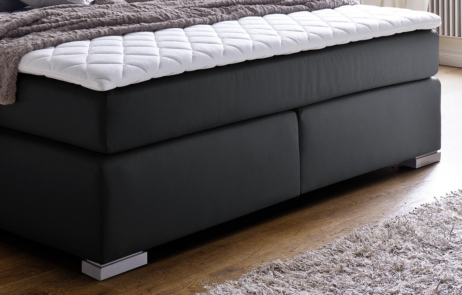 boxspringbett isabelle schwarz 200cm x 200cm. Black Bedroom Furniture Sets. Home Design Ideas