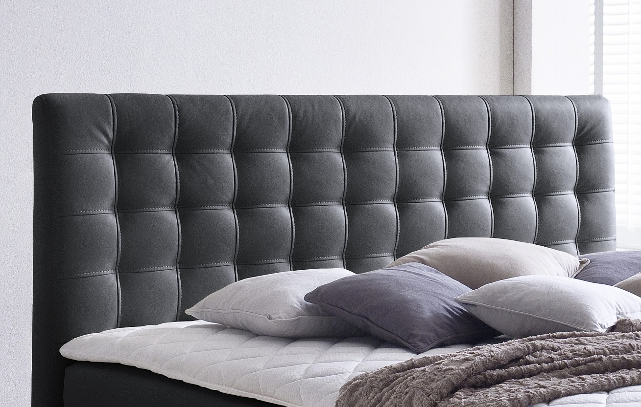 boxspringbett isabelle schwarz 180cm x 200cm. Black Bedroom Furniture Sets. Home Design Ideas