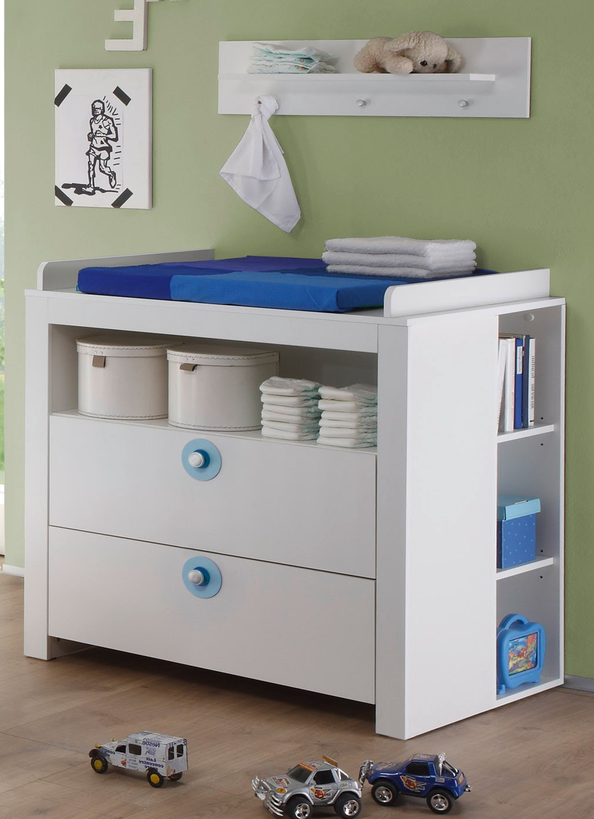 babyzimmer wickelkommode olivia und regal wei. Black Bedroom Furniture Sets. Home Design Ideas