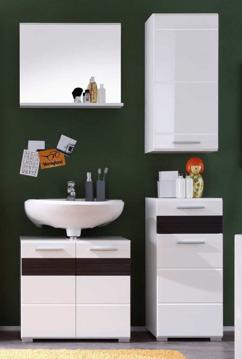 badschrank mezzo wei hochglanz online kaufen. Black Bedroom Furniture Sets. Home Design Ideas
