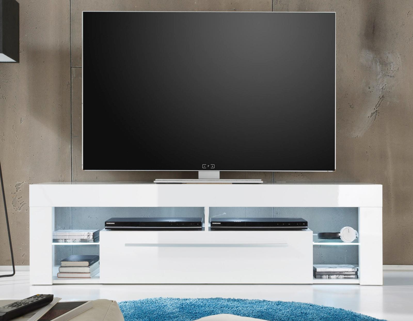 lowboard tv unterteil score wei hochglanz. Black Bedroom Furniture Sets. Home Design Ideas