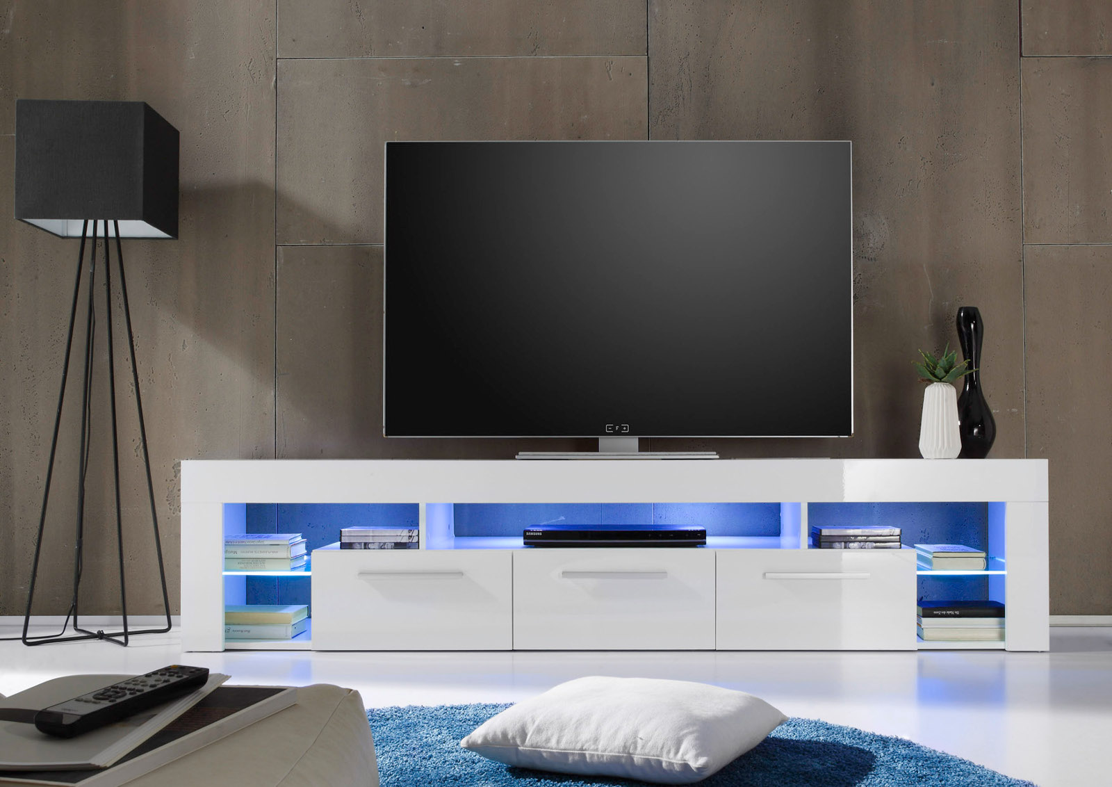 lowboard tv unterteil score wei hochglanz. Black Bedroom Furniture Sets. Home Design Ideas