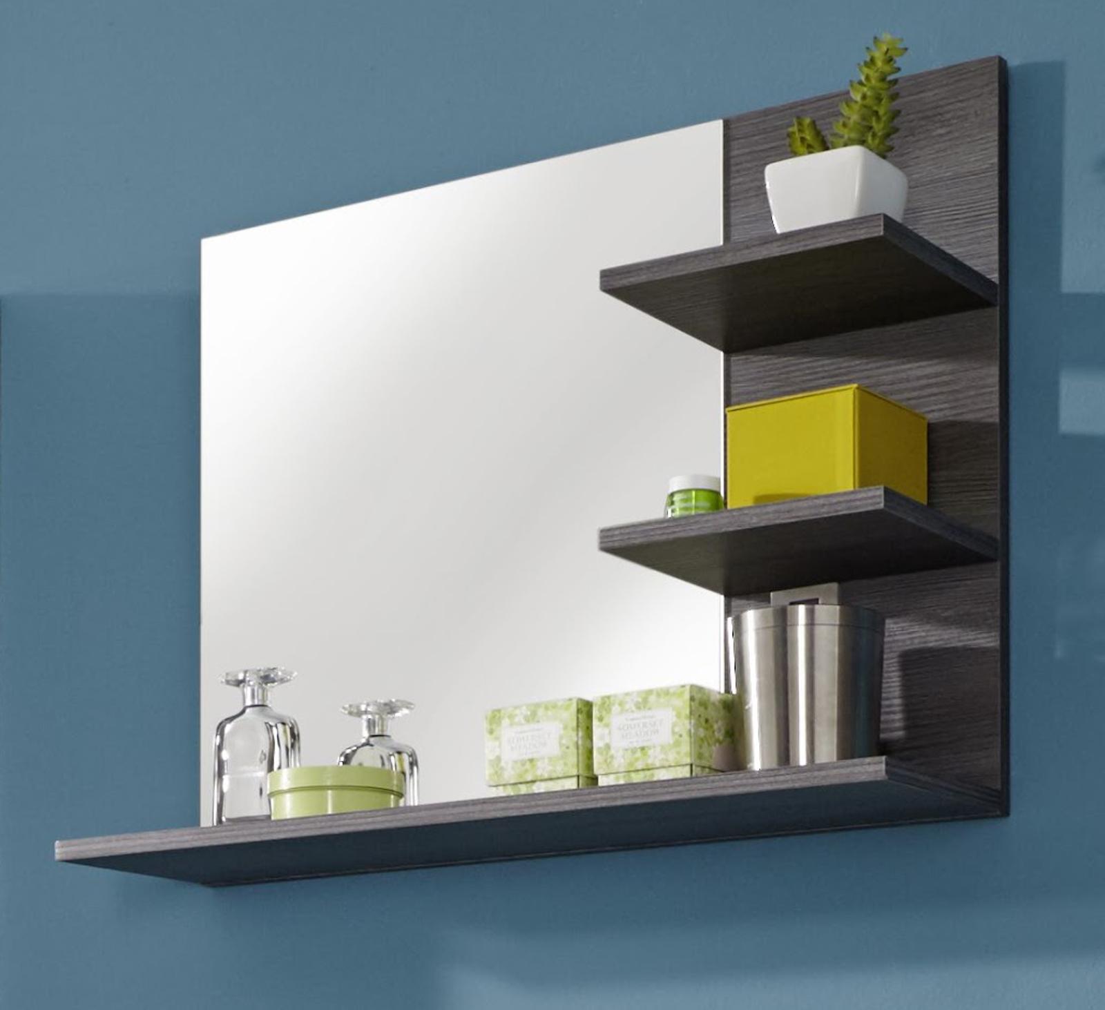 miroirs de sale bain salle sardegna gris avec tag re. Black Bedroom Furniture Sets. Home Design Ideas