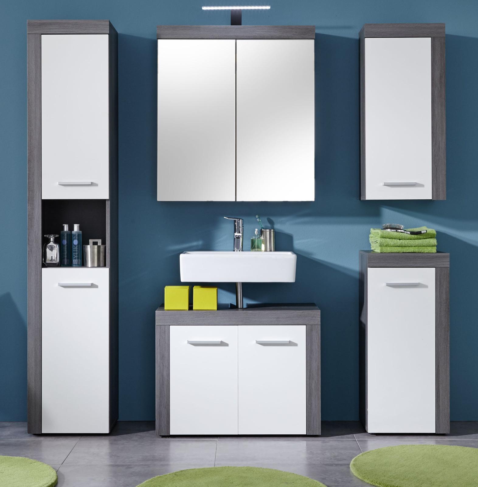 badm bel miami wei silber g nstig online kaufen. Black Bedroom Furniture Sets. Home Design Ideas