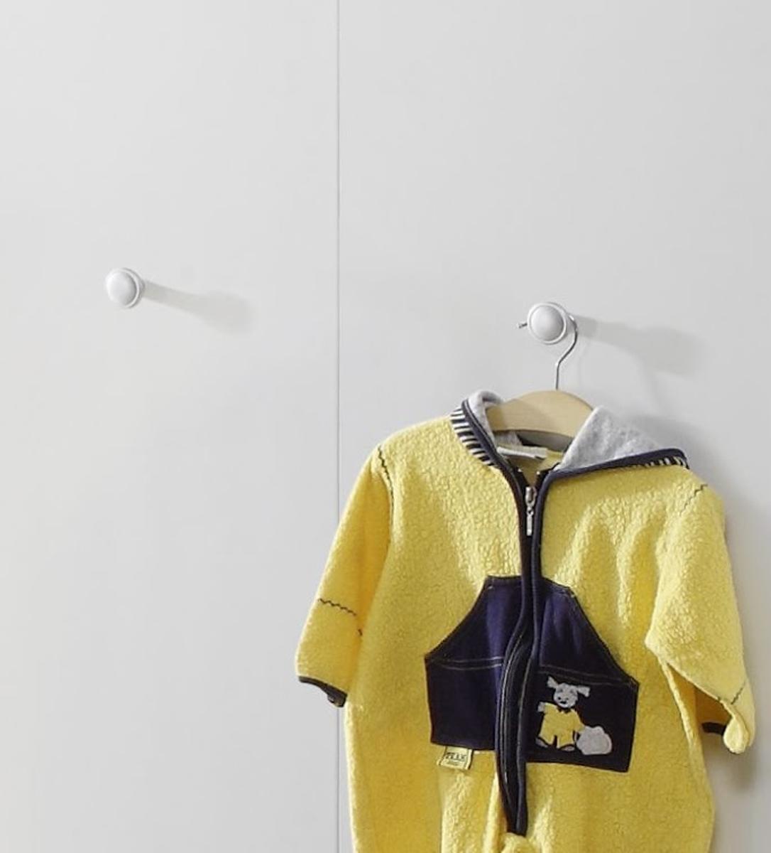 Kleiderschrank Olivia 130 Cm 3 Türig Für Babyzimmer Und Kinderzimmer  Optional Mit Blau Oder Rosa