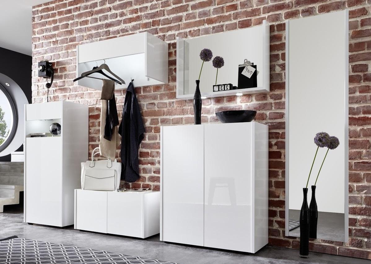 sitzbank schuhbank wei hochglanz lackiert garderobenbank flur dielenm bel imola ebay. Black Bedroom Furniture Sets. Home Design Ideas