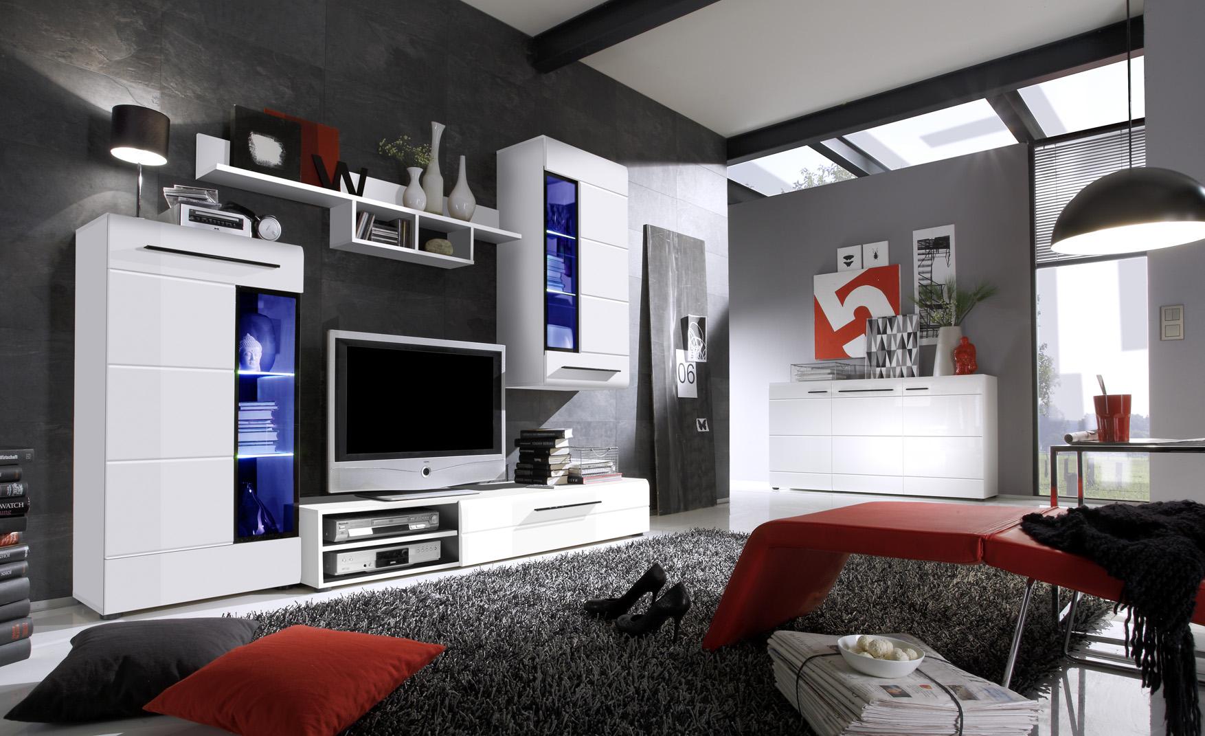 Schwarz Weiß Wohnzimmer | Möbelideen Wohnzimmer Schwarz Hochglanz