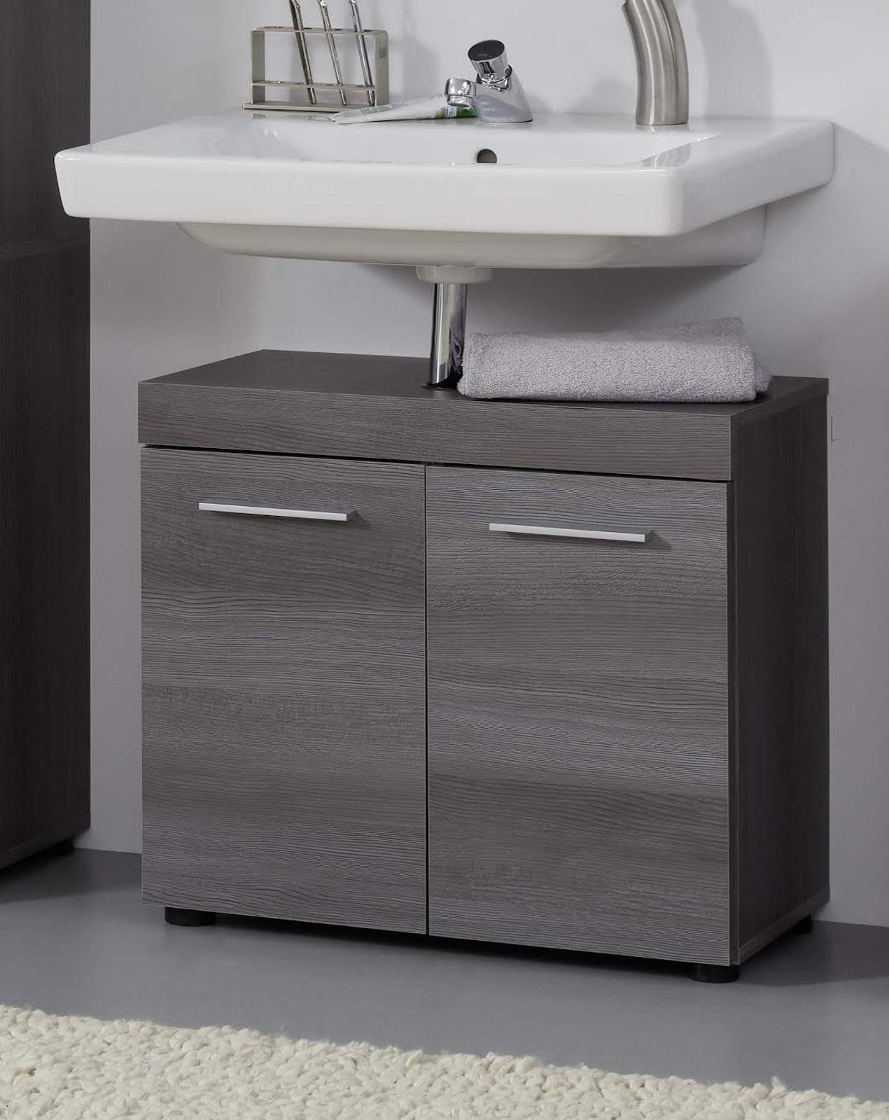 Waschbeckenunterschrank bad schrank grau sardegna bad for Badezimmer unterschrank grau