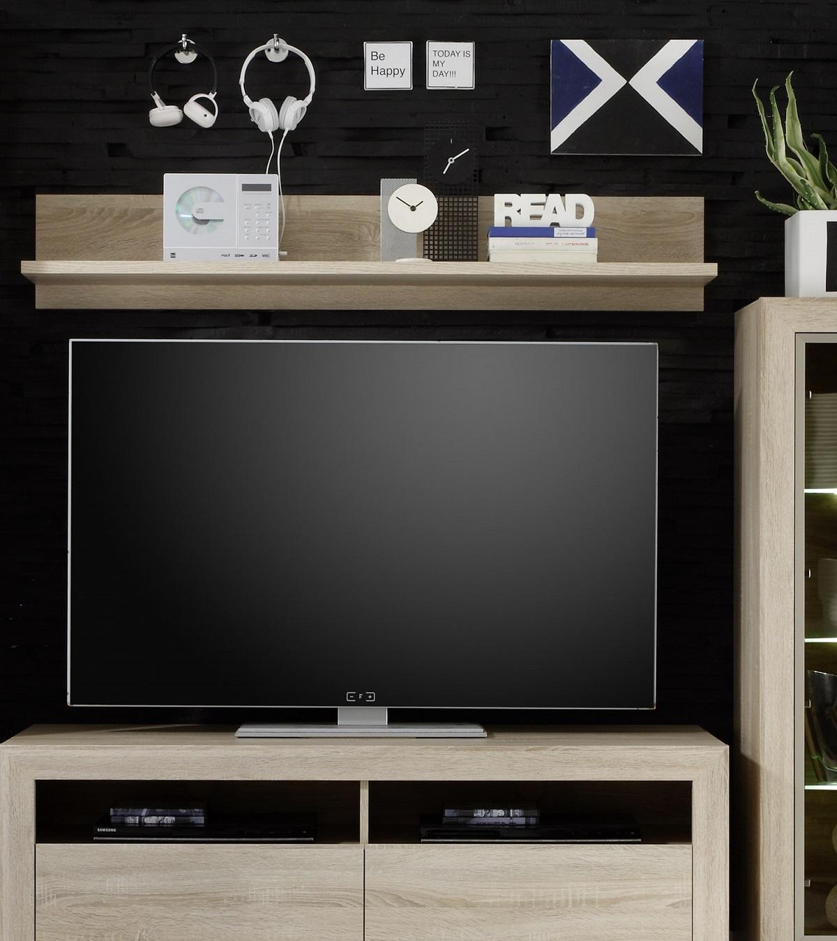 wandboard sevilla sonoma eiche. Black Bedroom Furniture Sets. Home Design Ideas