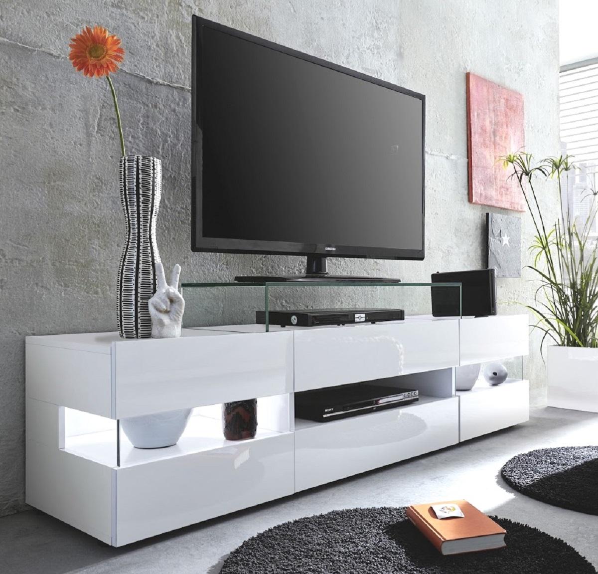lowboard sonic hochglanz wei. Black Bedroom Furniture Sets. Home Design Ideas