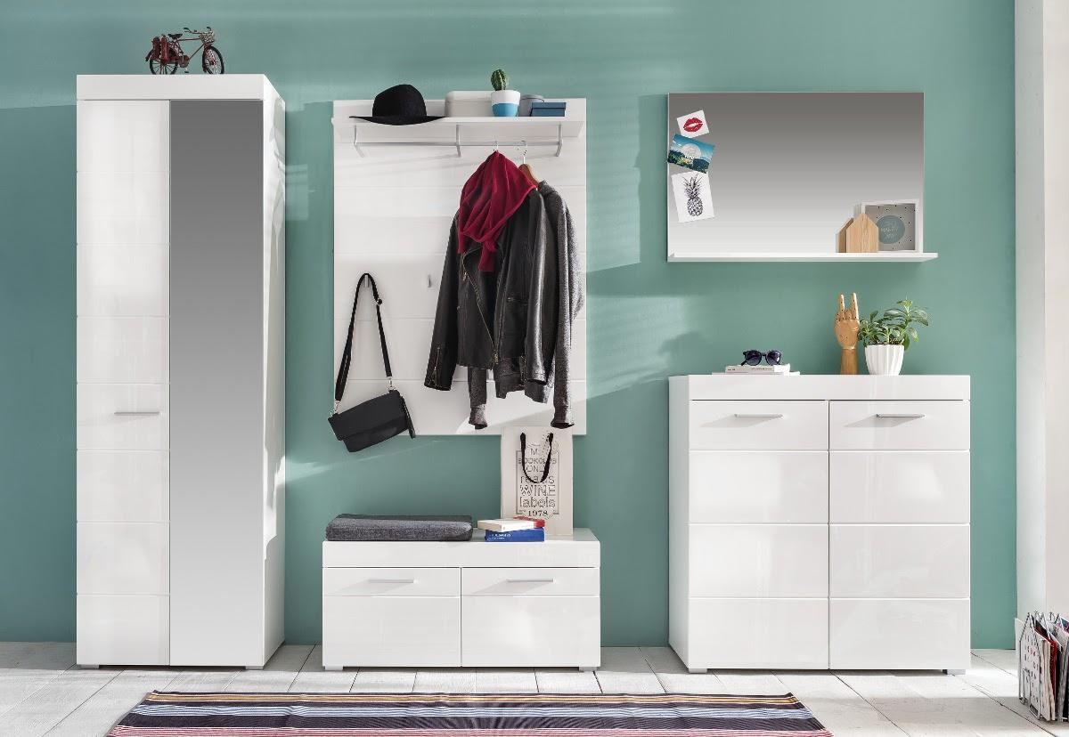 Wunderschön Garderobenschrank Weiß Sammlung Von Schuhschrank Mehrzweckschrank Amanda Weiß Hochglanz