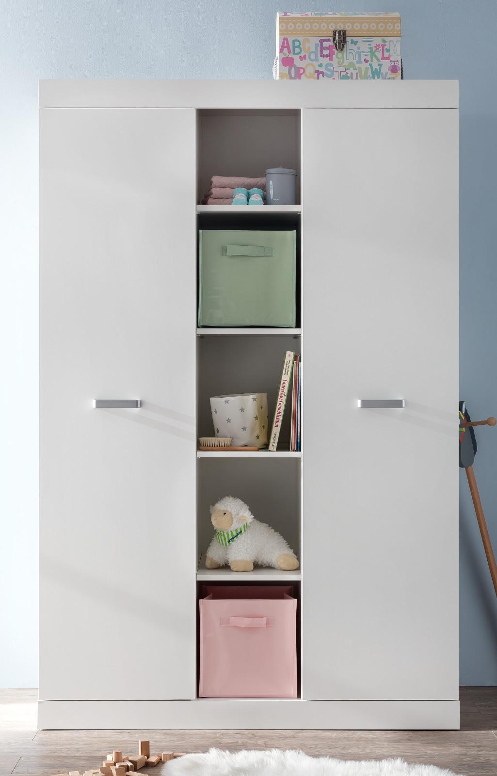 kleiderschrank ronja in wei 120x185 cm. Black Bedroom Furniture Sets. Home Design Ideas