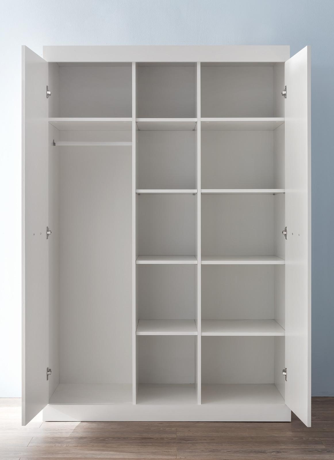 Kleiderschrank Ronja in weiß 120x185 cm