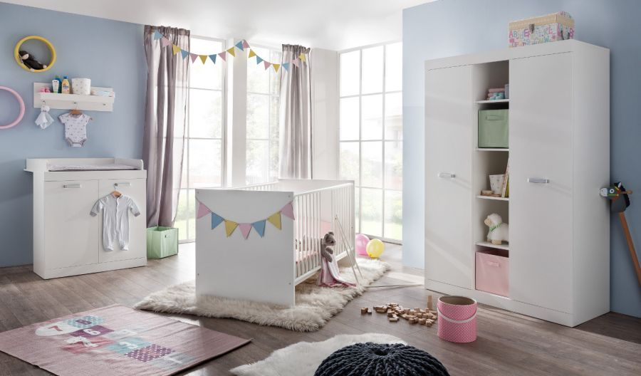 babyzimmer set ronja 3 teilig wei dekor. Black Bedroom Furniture Sets. Home Design Ideas