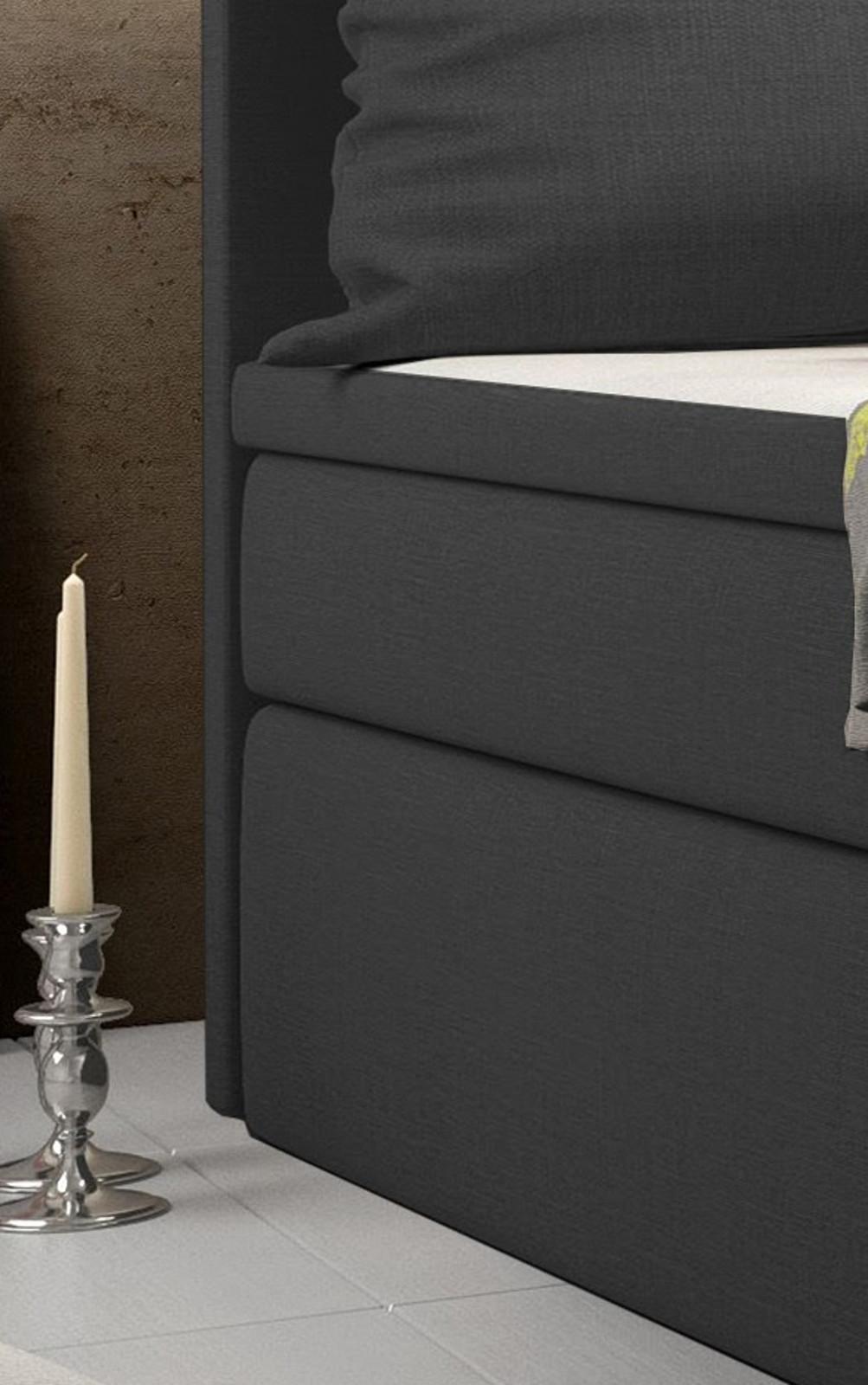 boxspringbett palermo bellante 100 x 200 cm anthrazit. Black Bedroom Furniture Sets. Home Design Ideas