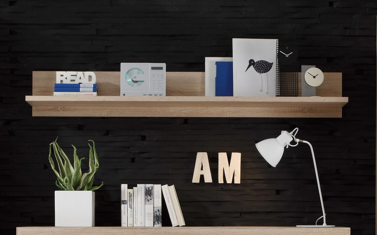 wandboard b cherregal sevilla sonoma eiche dekor 164 cm. Black Bedroom Furniture Sets. Home Design Ideas