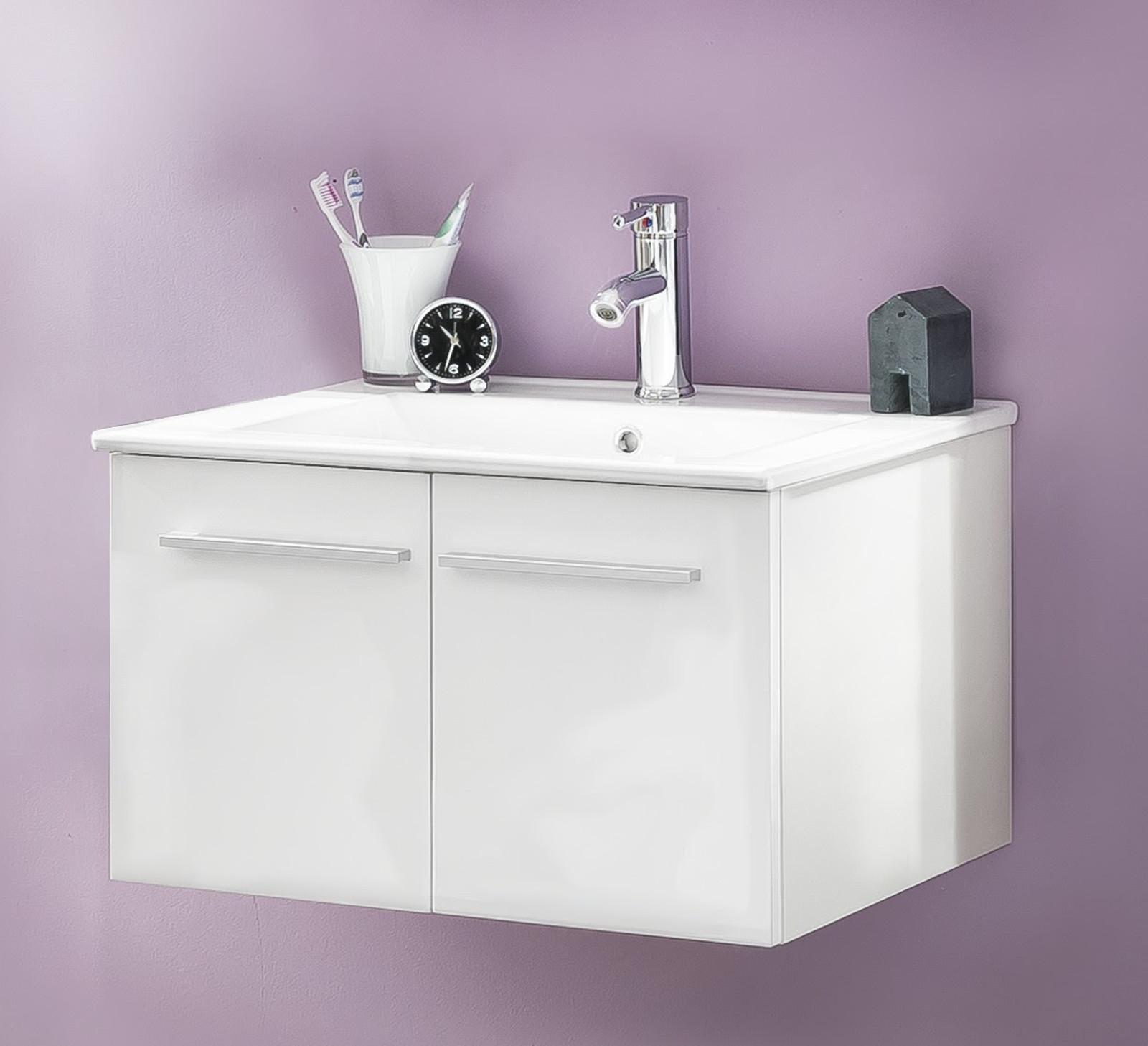 waschbeckenunterschrank ttb3 wei glanz. Black Bedroom Furniture Sets. Home Design Ideas