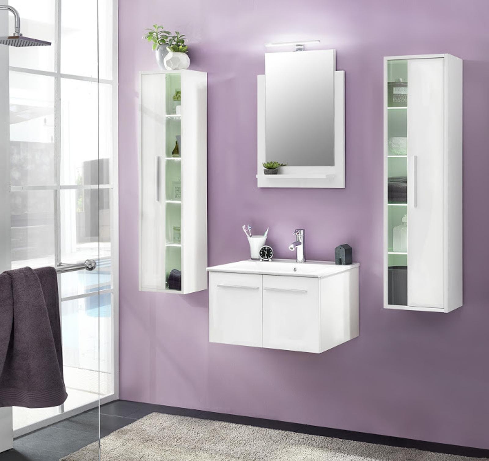 badm bel ttb3 wei glanz g nstig online kaufen. Black Bedroom Furniture Sets. Home Design Ideas