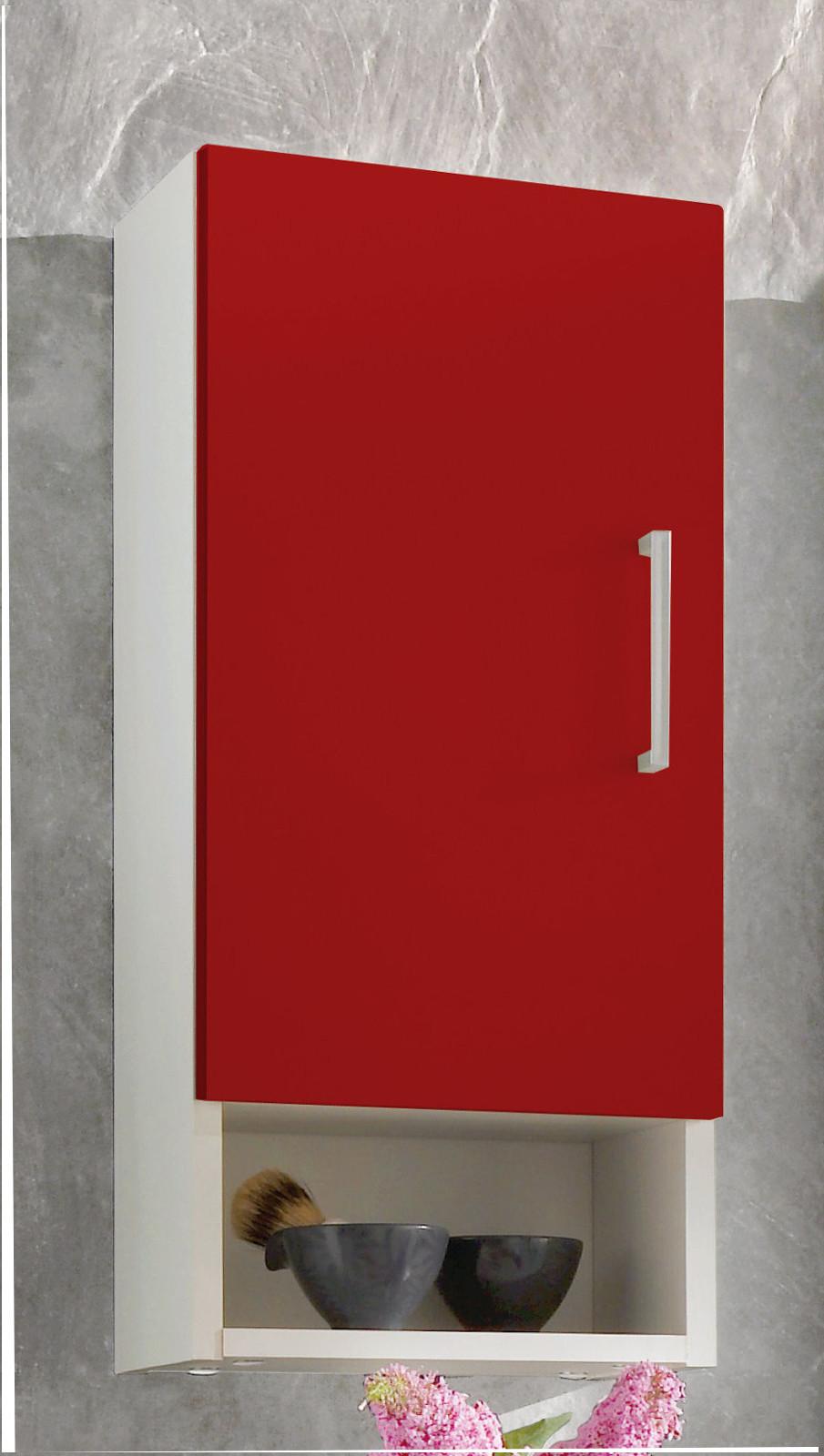 h ngeschrank mit einlegeboden wei rot. Black Bedroom Furniture Sets. Home Design Ideas