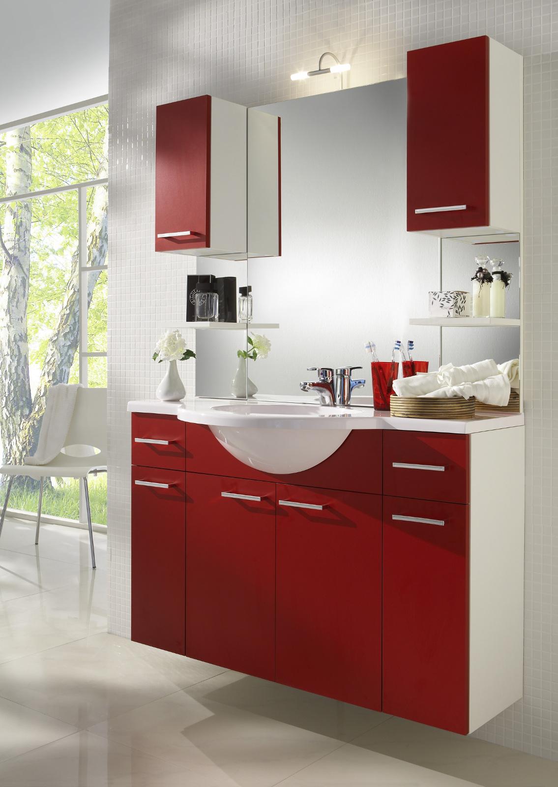 unterschrank mit einlegeboden wei rot. Black Bedroom Furniture Sets. Home Design Ideas
