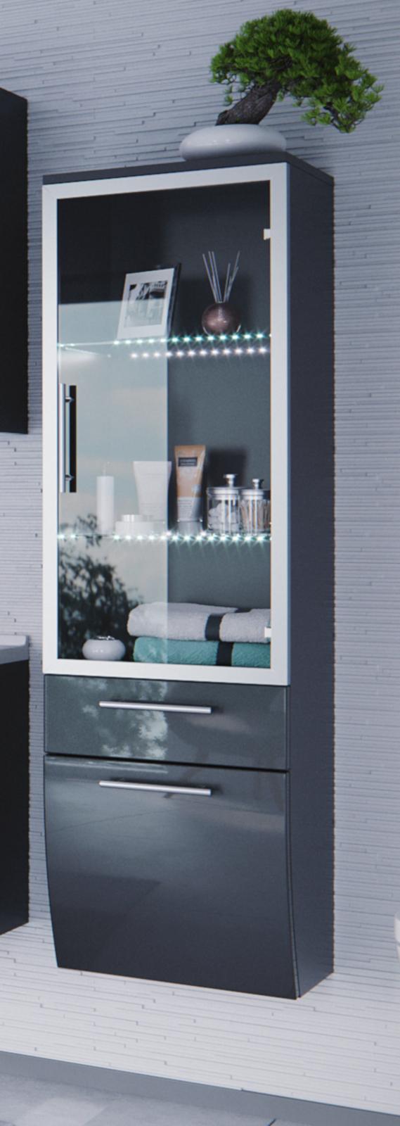 badm bel hochschrank salona in anthrazit. Black Bedroom Furniture Sets. Home Design Ideas