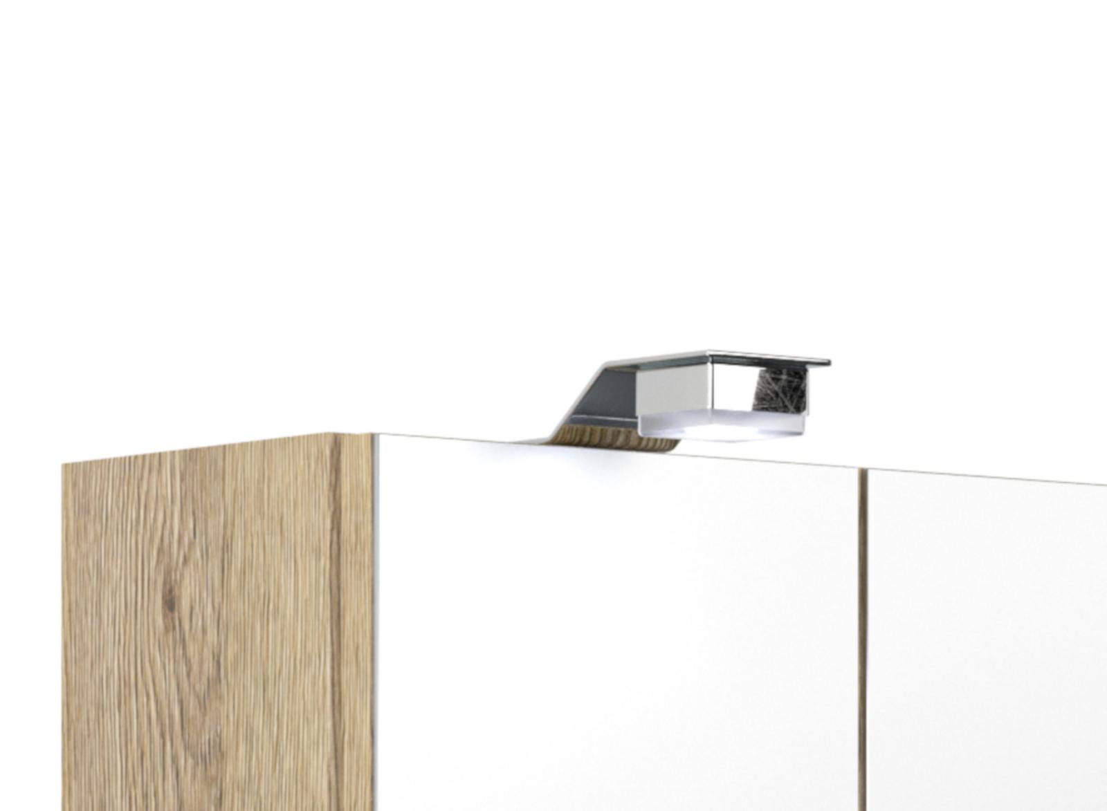 badm bel spiegelschrank salona sonoma eiche wei. Black Bedroom Furniture Sets. Home Design Ideas