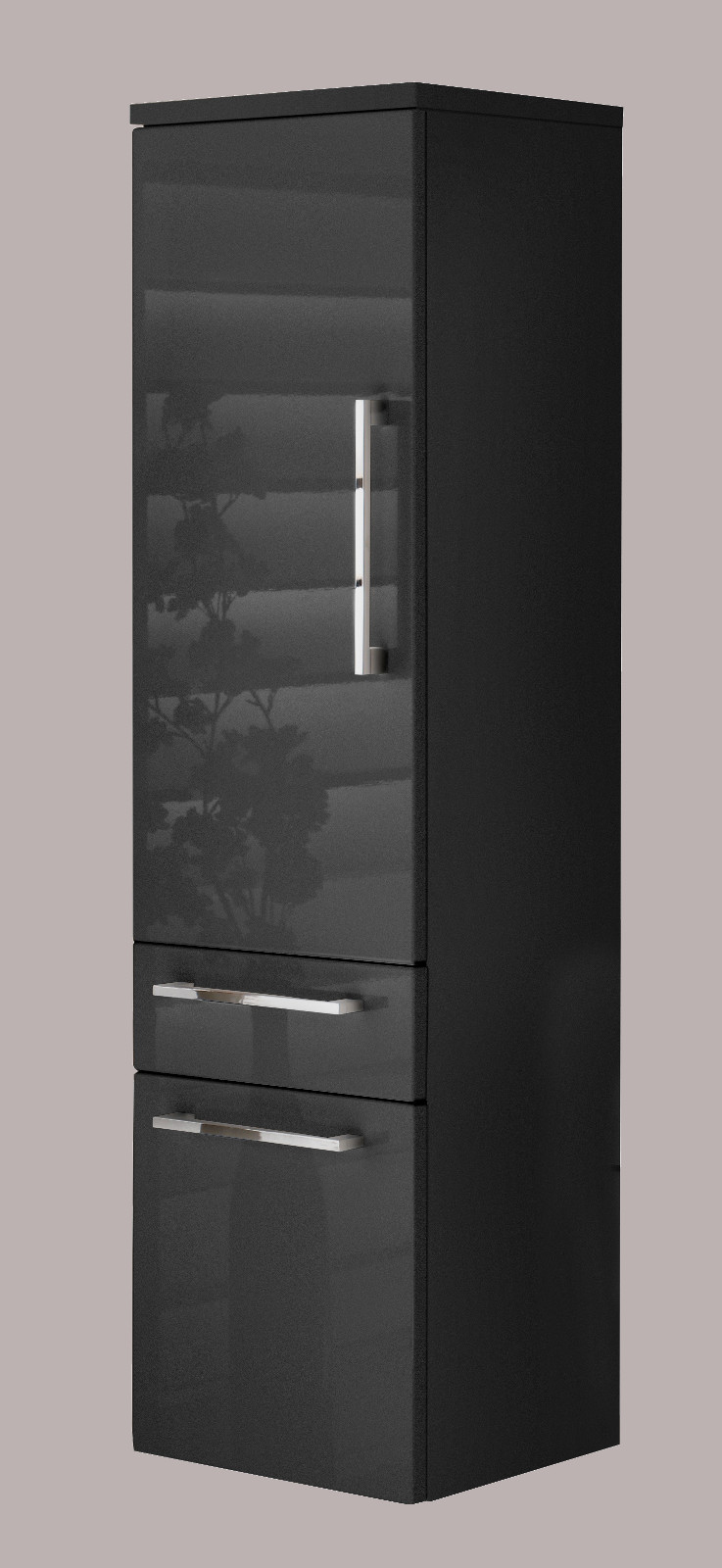 badm bel hochschrank in anthrazit. Black Bedroom Furniture Sets. Home Design Ideas