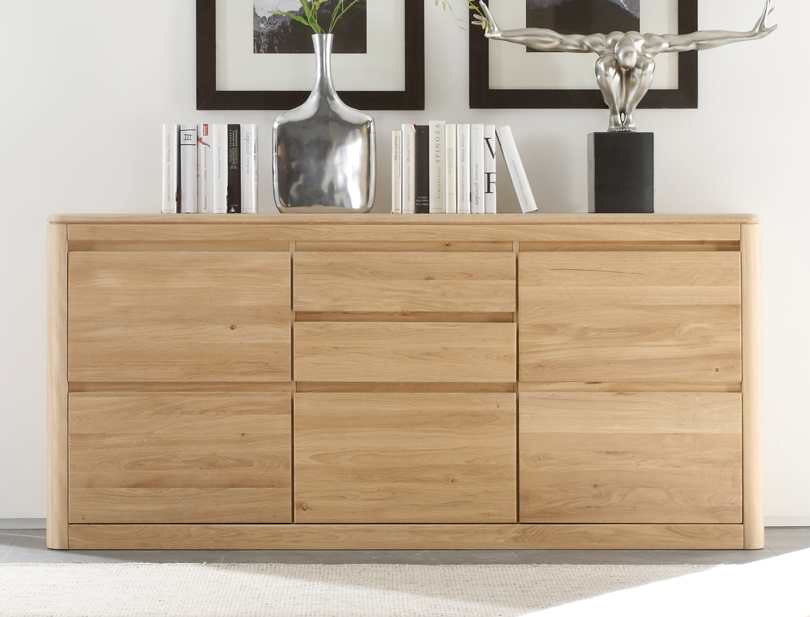 massives sideboard naturell n1 173 cm. Black Bedroom Furniture Sets. Home Design Ideas