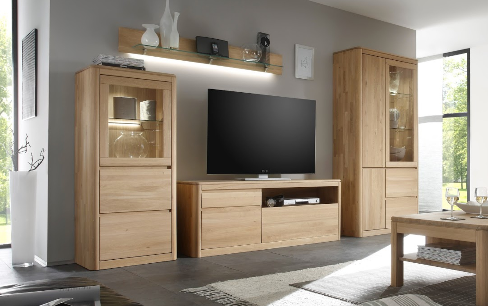 wandboard wandregal mit glasablage naturell n1. Black Bedroom Furniture Sets. Home Design Ideas