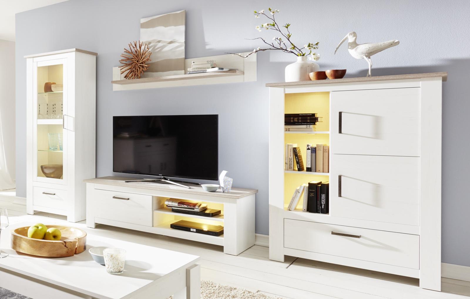 couchtisch pinie struktur wei lotte 110 cm. Black Bedroom Furniture Sets. Home Design Ideas