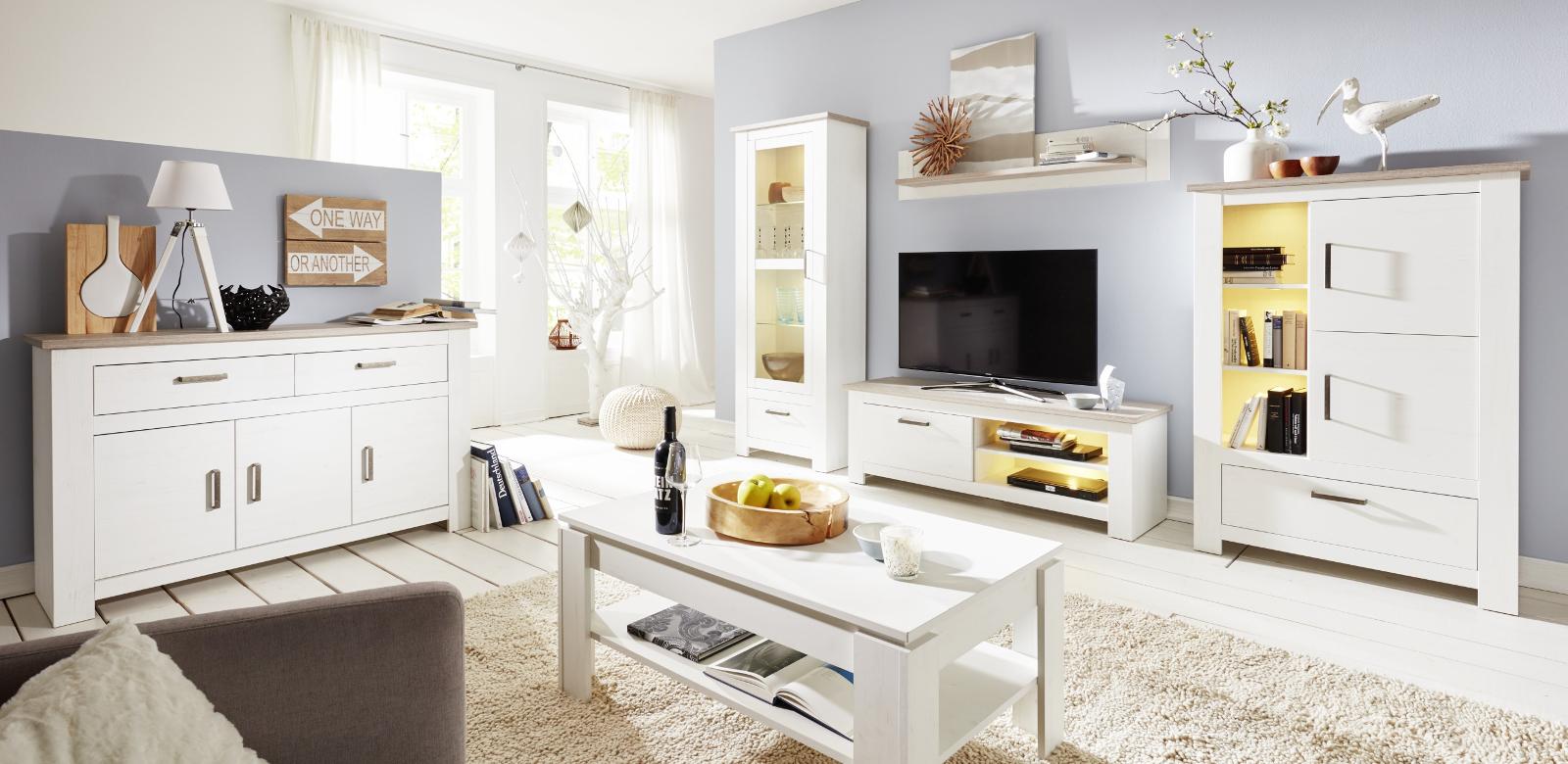 esstisch pinie struktur wei lotte 200 cm. Black Bedroom Furniture Sets. Home Design Ideas