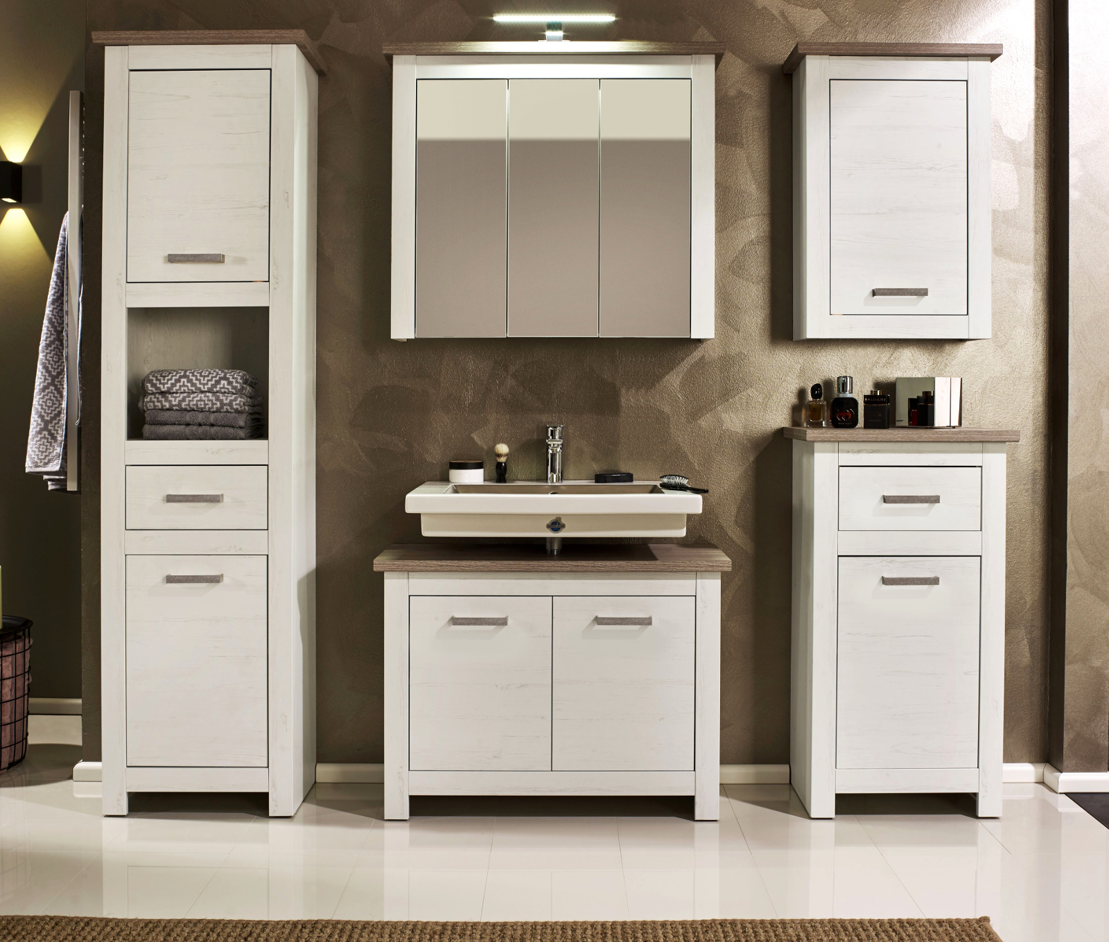 badezimmer waschbeckenuntersch lotte struktur wei. Black Bedroom Furniture Sets. Home Design Ideas