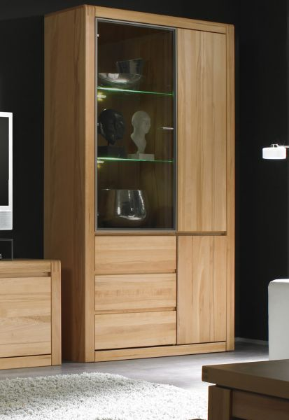 vitrine ponto kernbuche massiv ge lt gewachst. Black Bedroom Furniture Sets. Home Design Ideas