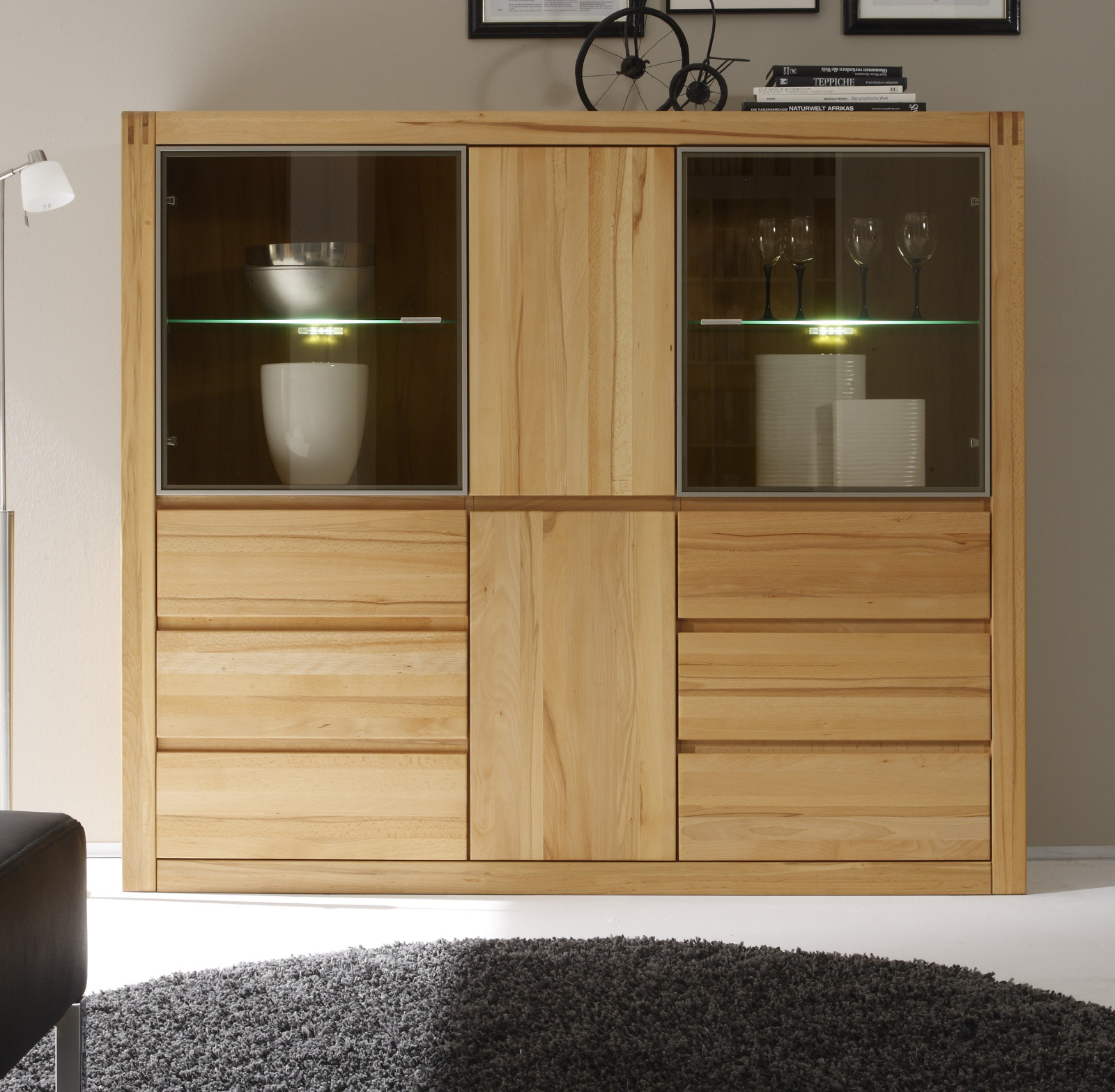 highboard ponto kernbuche massiv ge lt gewachst. Black Bedroom Furniture Sets. Home Design Ideas