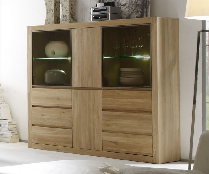 vitrine ponto eiche massiv ge lt gewachst. Black Bedroom Furniture Sets. Home Design Ideas
