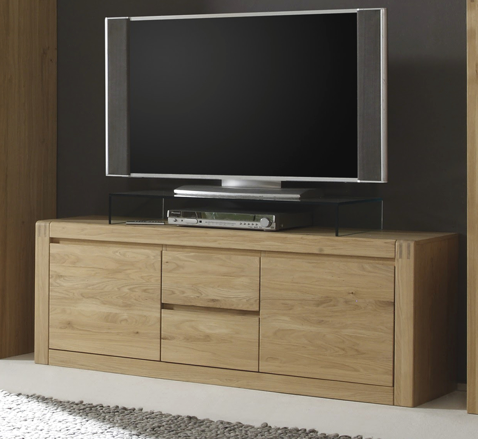 tv unterterteil ponto in eiche massiv. Black Bedroom Furniture Sets. Home Design Ideas