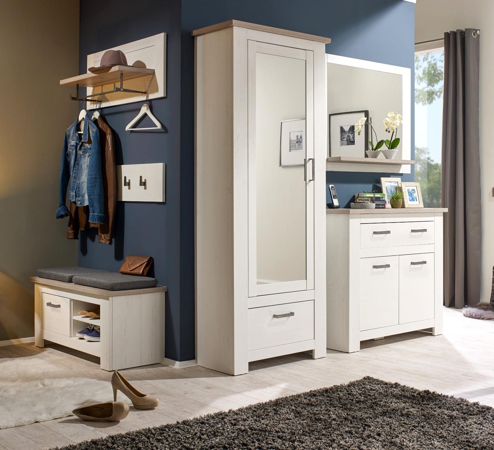 kommode anrichte lotte pinie struktur wei. Black Bedroom Furniture Sets. Home Design Ideas
