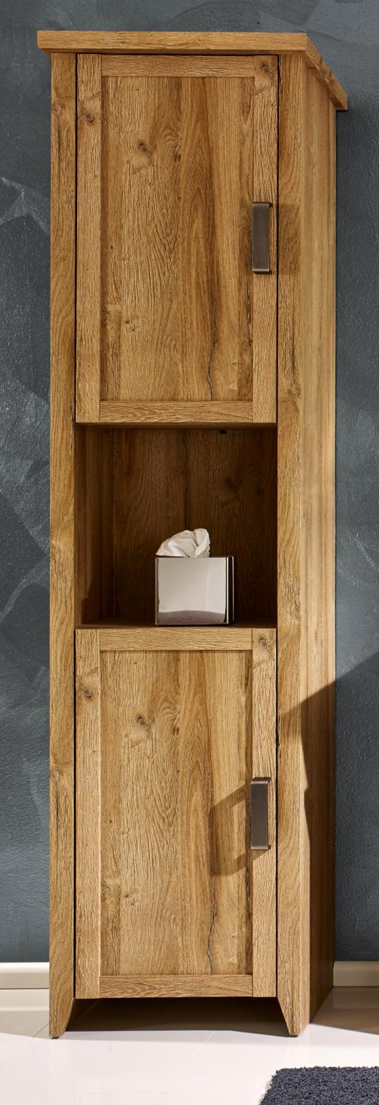 badschrank hochschrank bad m bel eiche alteiche badezimmer standschrank canyon ebay. Black Bedroom Furniture Sets. Home Design Ideas