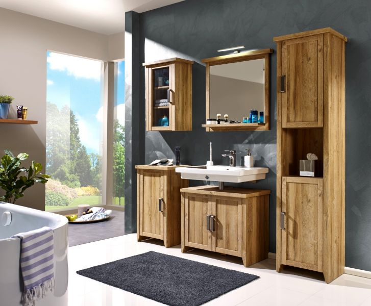 badezimmer standschrank canyon alteiche dekor. Black Bedroom Furniture Sets. Home Design Ideas